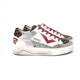 QB12 SNEAKERS KYLE WHITE RED KYLE-D708/BIANCO